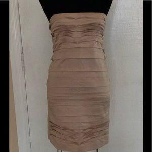BCBGMaxAzria silk strapless mini dress